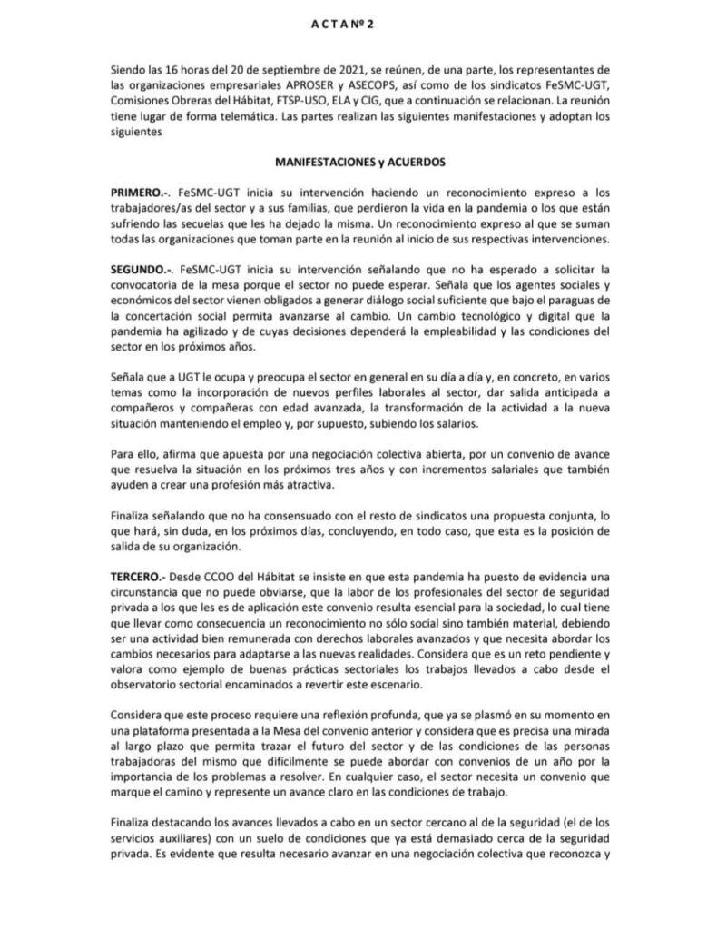 Negociación convenio 2022 seguridad privada 2 página 1